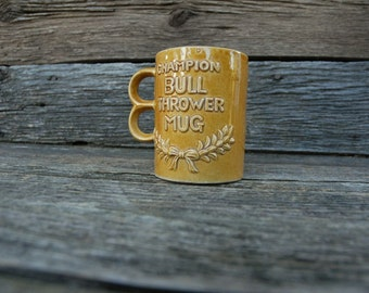 Champion Bull Thrower Mug, Yellow Mug