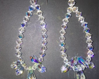 AB Crystal Hoop Earrings