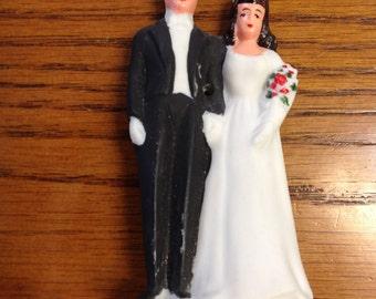1940's Bride and Groom Vintage Cake Topper