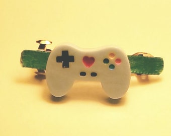 Video Game Controller French Barrette