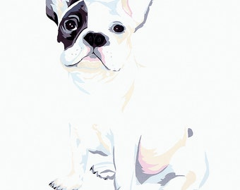 Bulldog limited edition signed giclee fine art print