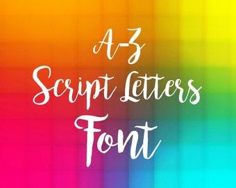 script font svg, eps and dxf, cricut brush Font, wedding Alphabet, wedding font, Cut Files, diy Files Silhouette Cricut machines digital