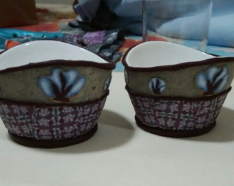 Beautiful handmade veneer for high quality porcelain bowls