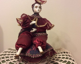 Green Gables Co. Porcelain Jester/Music Box