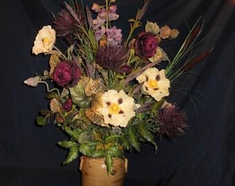 Lavish Purple Urn Arrangement
