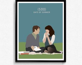 500 Days of Summer Movie Poster- Minimalist Print
