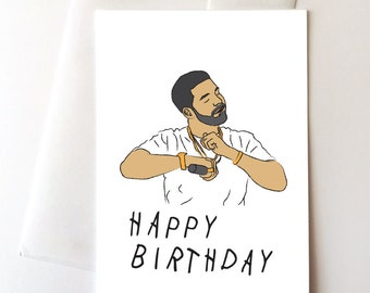 Drake Dancing Happy Birthday Card