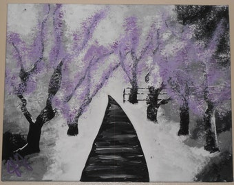 Lilac Trees in Winter