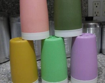 5pc vintage thermo-ware juice cups