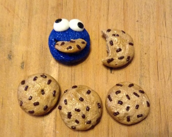 Cookie Monster and Cookie Magnets