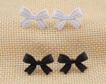 Bow earrings studs in black or white gifts for bridesmaids