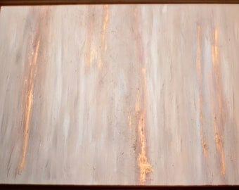 neutral gold leaf abstract