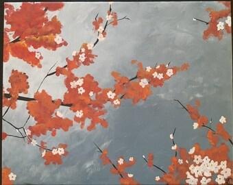 Orange Blossom, acrylic painting