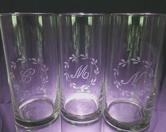 Personalized Etched Glasses