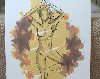 Yoga Tree Pose Digital Print