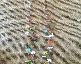 Native American Fetish Necklace - Zuni