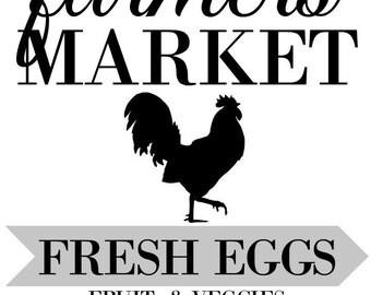 Farmers Market Print Farmhouse Decor