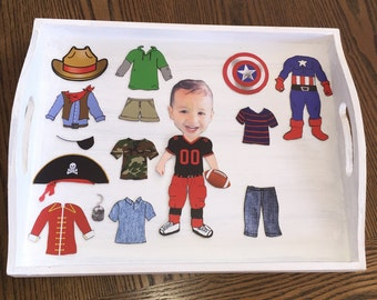 Mini Me Magnetic Dolls (BOYS) with magnetic TRAY