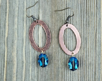Crystal & Copper Earrings