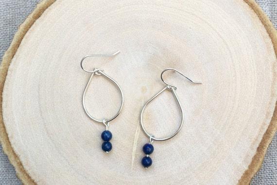 lapis lazuli teardrop earrings