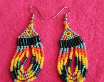 Colorful Native American Earrings