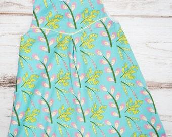 Girls blue dress - girls jumper - girls fall dress - size 5 girls dress - first day of school - handmade dress