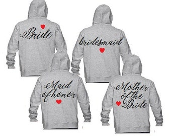 Bridesmaid Sweatshirt,Bridesmaid Jacket,Bridesmaid Sweater,Bridesmaid Bride Hoodie,Zip Up Hoodie,Wedding Clothing,Wedding Bridal Party,Bride
