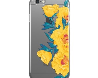 Yellow Floral Crystal iPhone Case