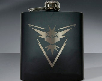 Pokemon Team Instinct Flask - 6 oz. Flask