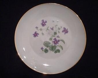 Heinrich H & C, Violet Bread and Butter Plate  Vintage SELB Bavaria  KL