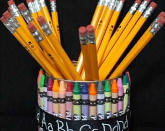 School Teacher Pencil Holder Gift! Teacher Appreciation! Handmade