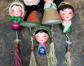 Antique Asian Doll Ornaments