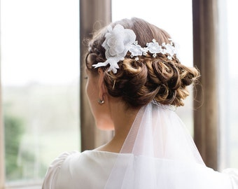 Lace Bridal Flower Hair Vine