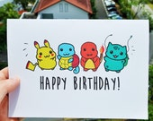 Pokemon Birthday Card!