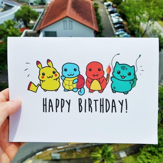 Birthday Cards Pokemon: Pokemon Birthday Card