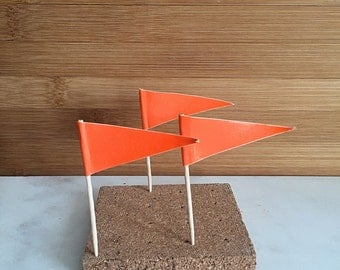Orange Flag Cupcake Pick, Cupcake Topper (24)