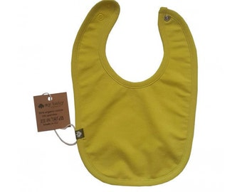 Organic cotton single colour baby bibs