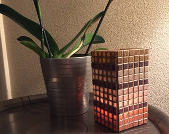 Rectangular Mosaic Candleholder