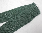 Green Crochet Scarf - Emerald and Forest Green - Lion Brand Heartland - Kings Canyon - Gift Idea