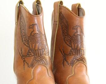 Vintage Eagle Cowboy Boots