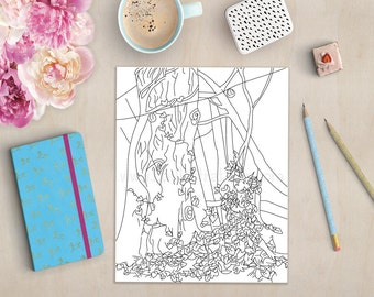 Fairy coloring book | Etsy
