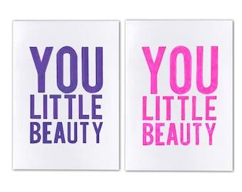 A6 Hand Drawn Card - You Little Beauty - Congratulations or Thank You Card - Australian Made