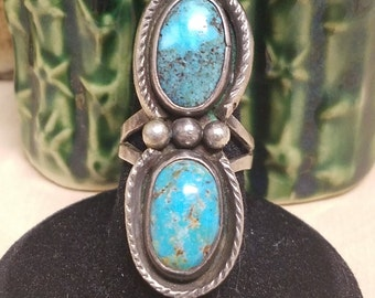 Gorgeous two stone Turquoise ring