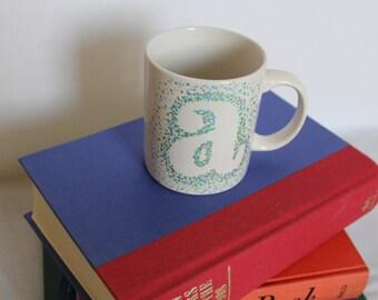 Oil Painted Letter Mug