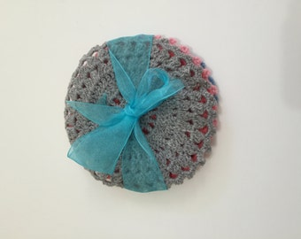 Handmade Crochet Cotton Coasters Set of 5