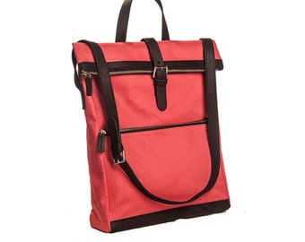 Pietrasanta Shoulder Bag with Flap and Black Leather Details