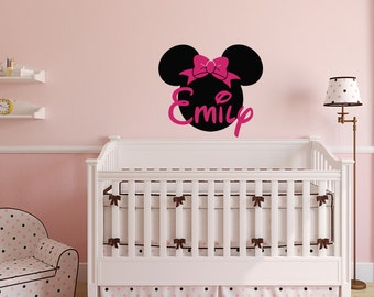 Merveilleux Minnie Mouse Wall Decals   Girl Name Wall Decal   Custom Name Wall Decals  Nursery Girls