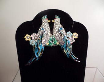 REDUCED 1930's Double Bird Brooch with Removable Pins