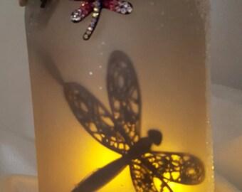 Dragonfly Mason Jar Lantern