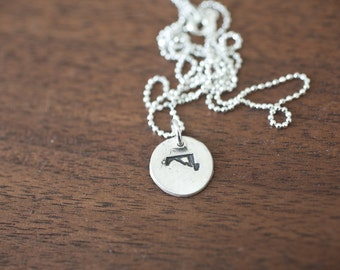 Tiny Maryland Necklace Silver Maryland Necklace State Charm State Necklace MD Small State Charm Maryland Charm Maryland Necklace
